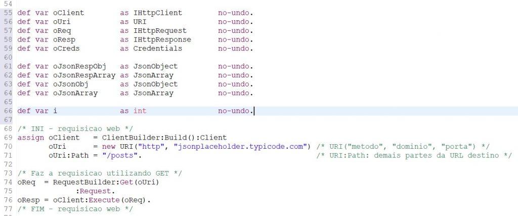 consumir webservices rest utilizando Progress4