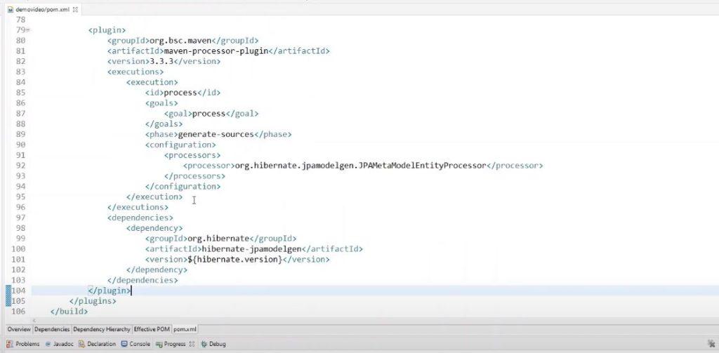 Meta Model Entity Processor é utilizado na hora de criar as specifications