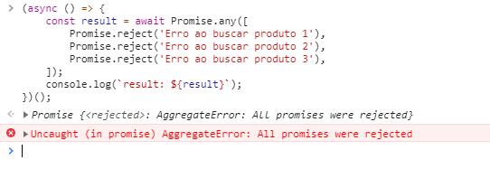 javascript ES2021 promise any
